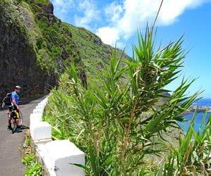 Cycle path to Porto Moniz directly next to the sea