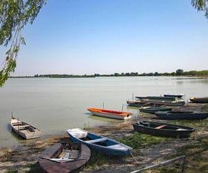 Boats at the bank of Lake Neusiedl