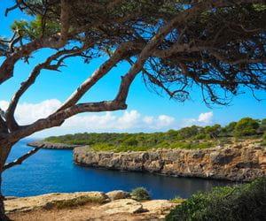 View of the cliffs at Cala Pi