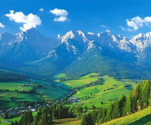 Breathtaking Alps panorama view