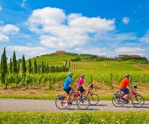Radler in der Toskana