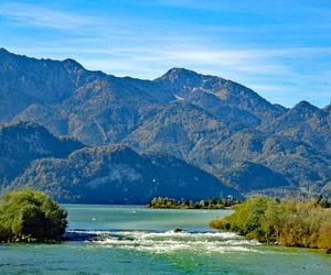 Mountain scenery at Lake Kochelsee