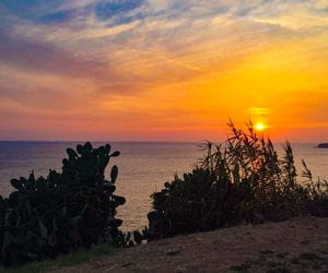 Sonnenuntergang in Piombino am Meer