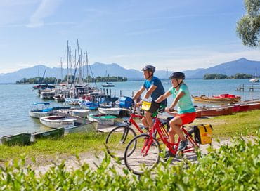 Cycling on the Chiemsee