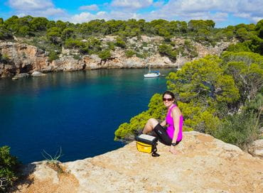Pause in der Bucht von Cala Pi