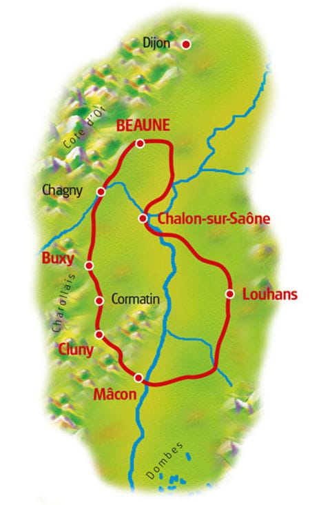 Map Burgundy