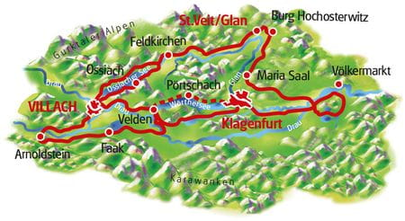Map Carinthian Lakes