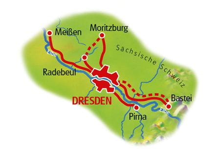 Map Dresden based in one hotel