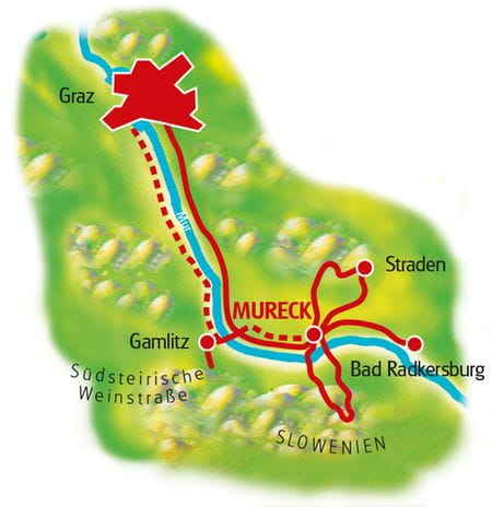 Map Southern Styria - based in one hotel