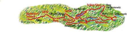 Karte Kärntens Wasserwege
