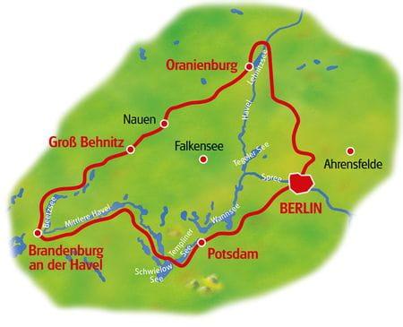 Karte Berliner Seen