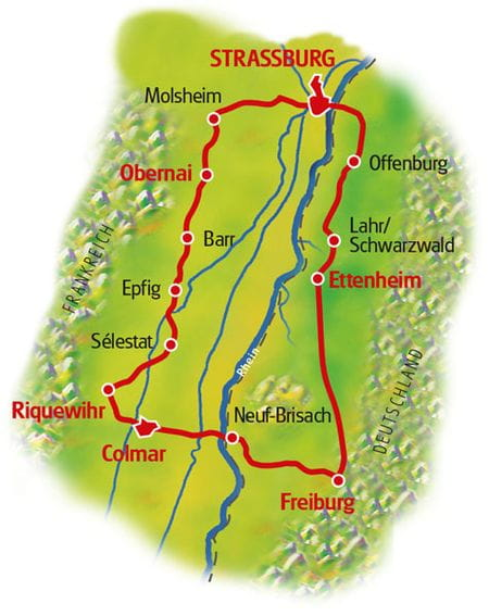 Karte Mittelelsass