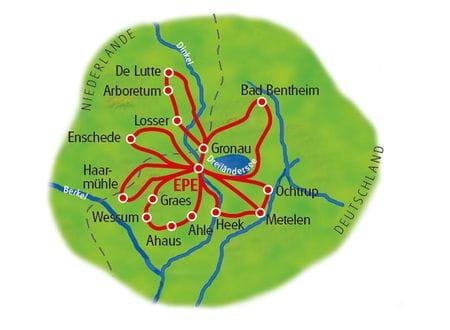 Karte Münsterland Sternfahrt