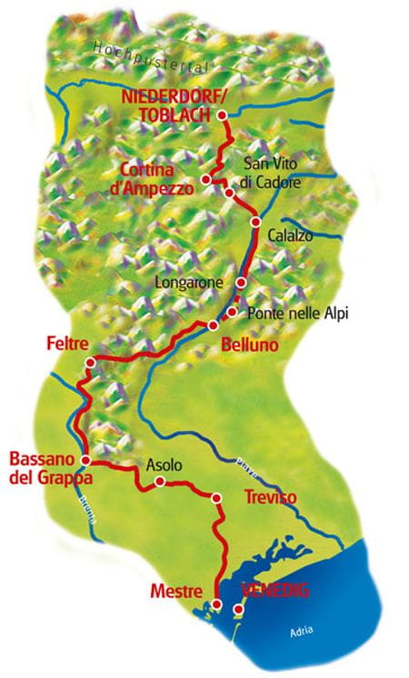 Maps Dolomites - Venice