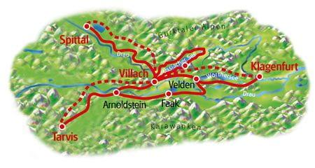 Alpe Adria Sternfahrt - Karte