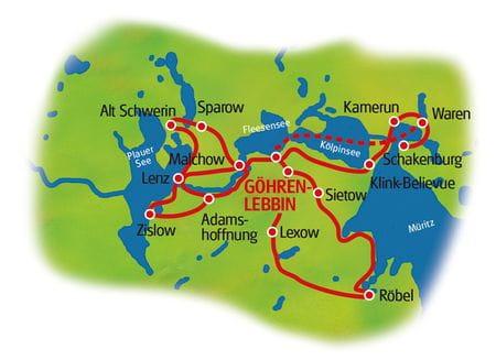 Göhren-Lebbin - Karte