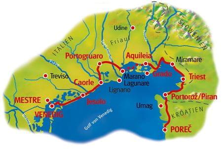 Map Venice - Porec