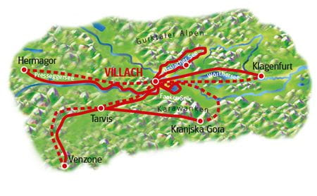 Map Villach - based in one hotel