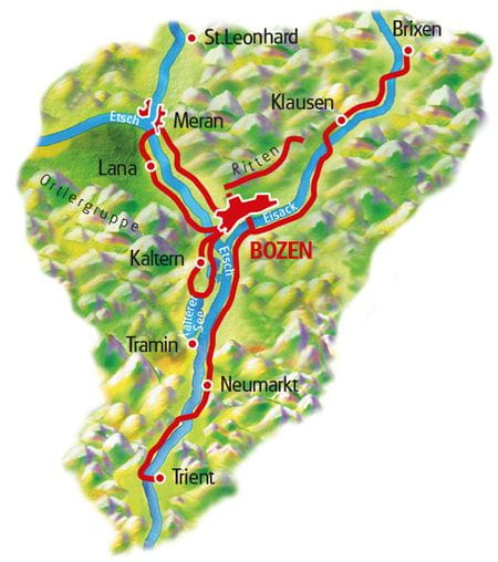 Map South Tyrol - based in one hotel