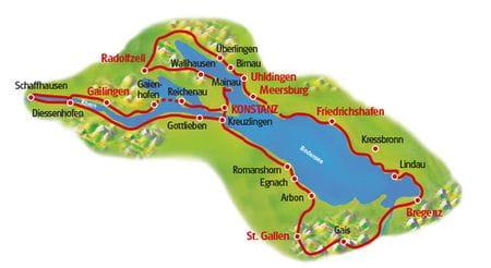 Bodensee Radtour XXL - Karte