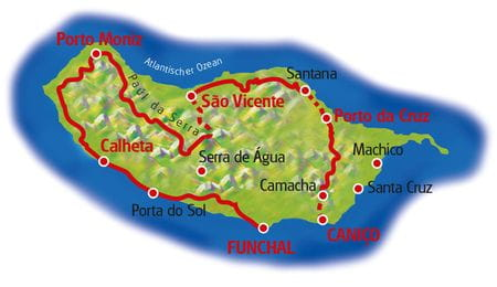 Map Madeira Loop Tour