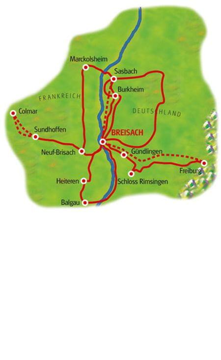 Karte Breisgau Sternfahrt