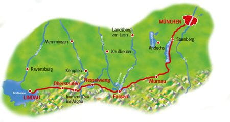 Map Munich - Lake Constanze