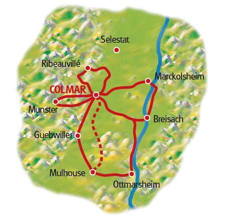 Karte Colmar Sternfahrt