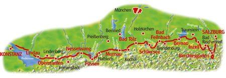 Map Lake Constance - Lake Königssee