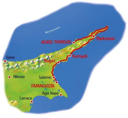 Karte Zypern
