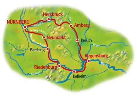 Nürnberg Umgebung - Karte