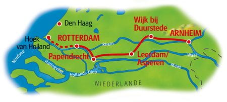 Rhein-Radweg IV - Karte