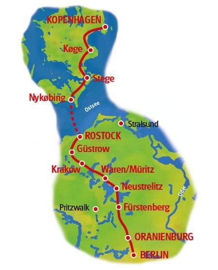 Radtour Berlin - Koppenhagen 21 - Karte