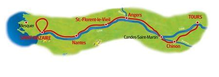Karte Loire und Atlantik