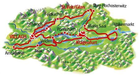 Karte Kärntner Seen