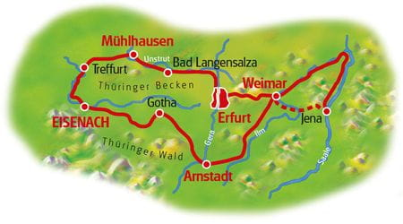 Karte Thüringer Becken