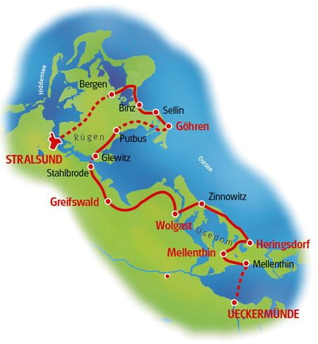 Stralsund Umgebung - Karte