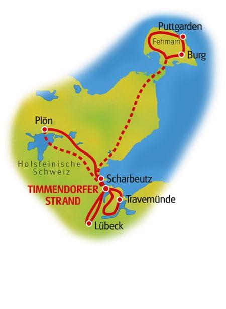 Karte Timmendorfer Strand Sternfahrt