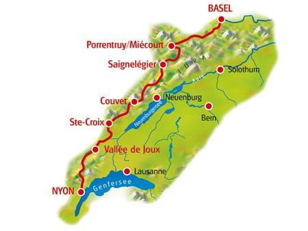 Karte Jura Route