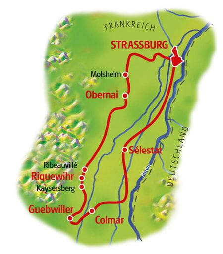 Map Alsace Wine Route
