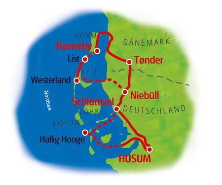 Husum Rundtour - Karte