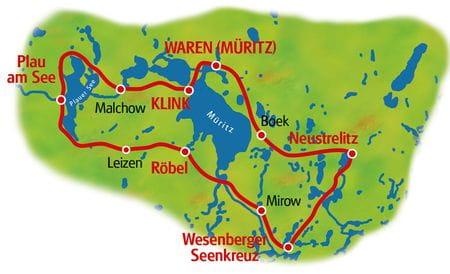 Mecklenburger Seenplatte - Karte