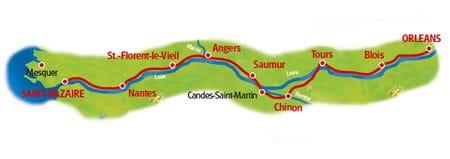 Karte Loire-Radweg