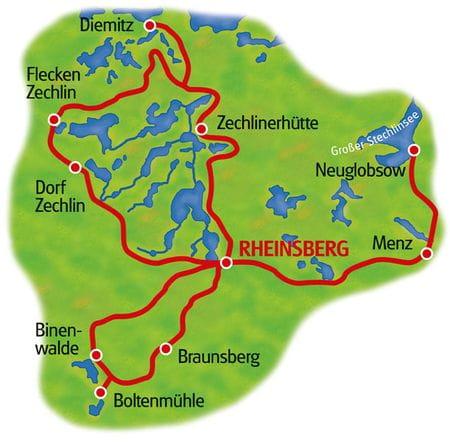 Karte Rheinsberg Sternfahrt