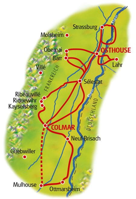 Map Colmar-Osthouse - based in one hotel