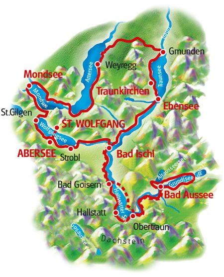 Map Salzkammergut Loop Tour