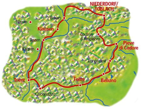 Maps Dolomites Loop tour