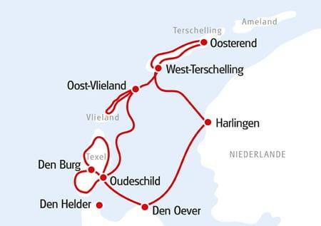 Holländische Inseln Karte