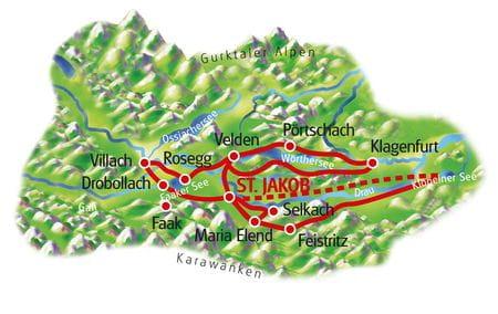 Karte Rosental Sternfahrt
