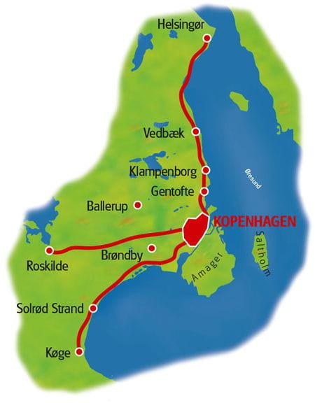Karte Kopenhagen Sternfahrt